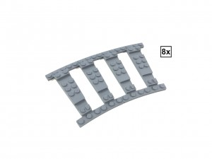 Ballast Plate R40 Set - 8 pieces for 8 R40 tracks
